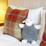 Heddy, Pillows & Bedside Light in Wensleydale